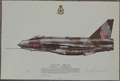 A3 Line Drawing - Lightning F6 XR723, 5 Sqn RAF (500 ONLY)